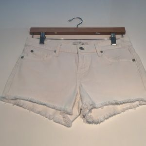 7 for all mankind white shorts